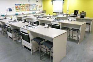 Prince Henry's Grammar School food technology classroom.