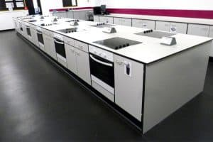 Sandy Upper School food technology classroom.