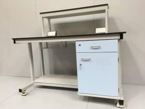 Bespoke mobile laboratory workstation for research, industrial, university and medical laboratories.