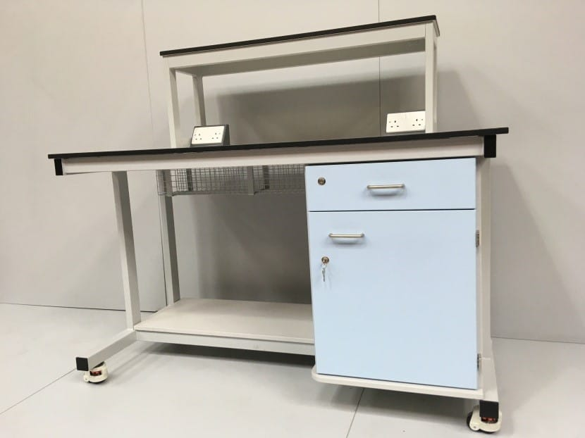 Bespoke mobile laboratory workstation for commercial laboratories.