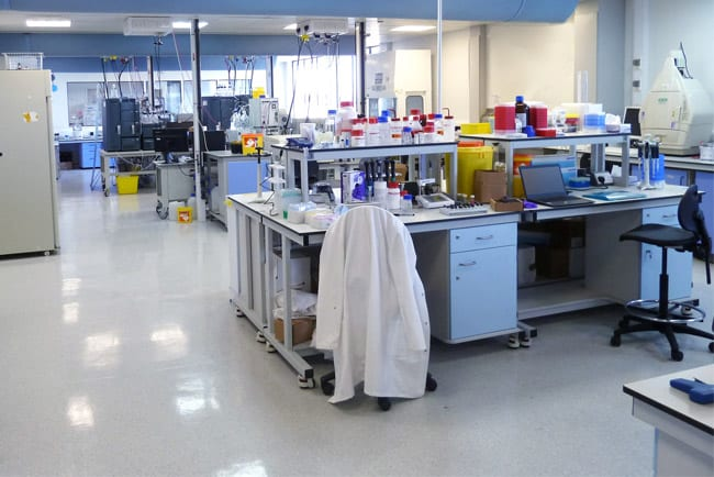 Research laboratory in use.