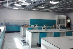 Refurbishment works at university laboratory.