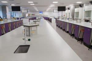 University laboratory benching.