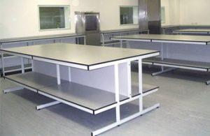 Healthcare laboratory tables Klick Laboratories