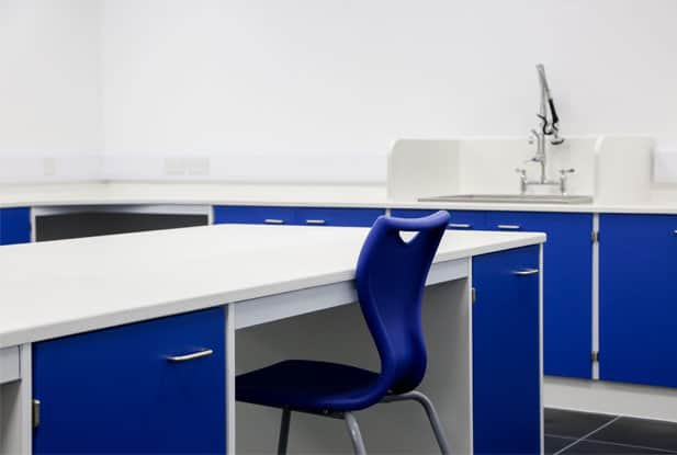 Sink and chair in a research laboratory