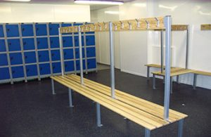 School lockers and changing rooms.