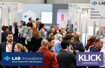 Klick Technology exhibit at Lab Innovations 2019