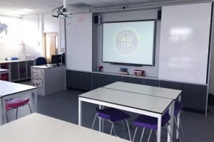 Penrice Academy Science Lab Teaching Wall