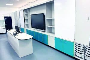 Science Laboratory teaching wall