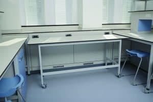 Trespa mobile laboratory table