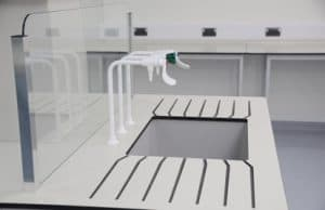 Kent University laboratory sink and taps