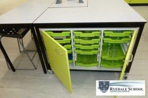 Rydale School mobile science laboratory storage furniture