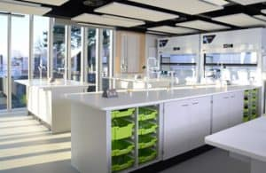 Science laboratory furniture at Tonbridge School, Kent