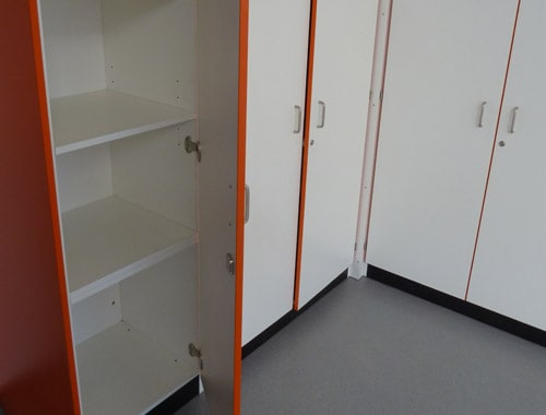 The Lakes Food Technology room with tall storage unit