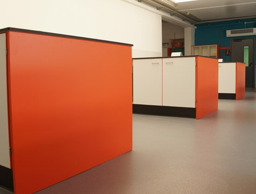 The Lakes School food tech classroom with contrast end panels