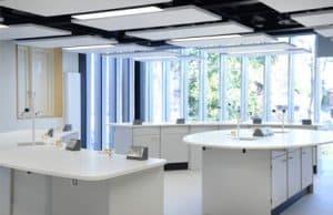 Tonbridge School science lab F with curved pod
