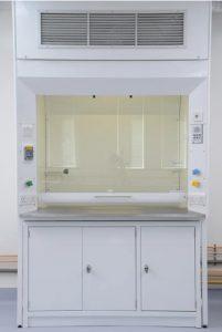 Klick Laboratories fixed fume cupboard supplied for Kent University