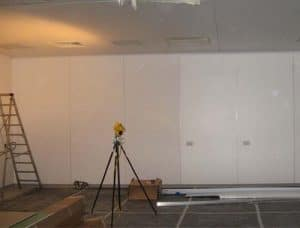 Clean room furniture installation work in progress
