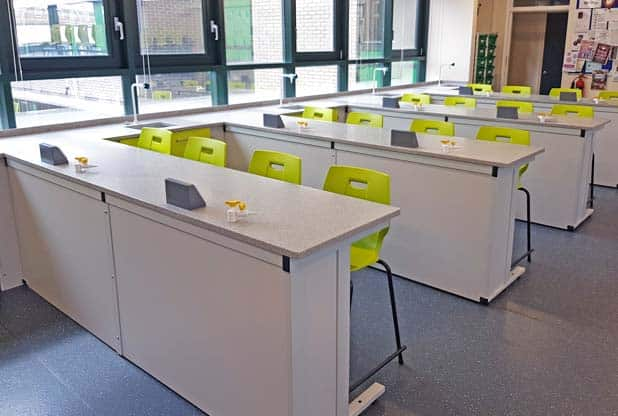 School Science Laboratory refurbishment at St Edmund's School Portsmouth