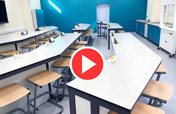 School Science lab refurbishment time lapse video of Carlton Academy