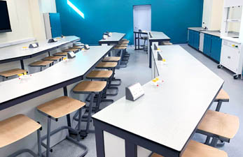 School science lab refurbishment for Carlton Academy