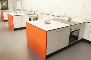 Food Technology Furniture at the Lakes School, Cumbria