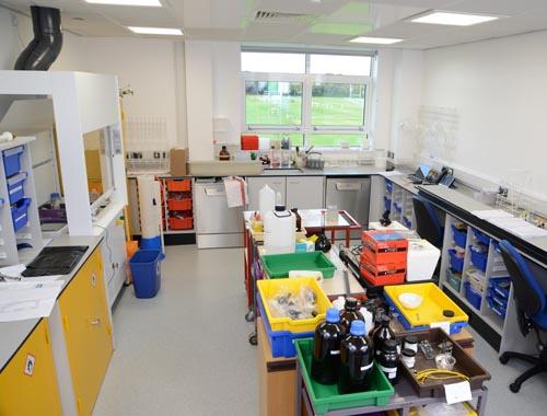 Chemistry Prep Room Design - Hampton School