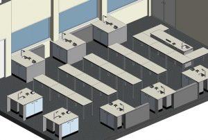 Refurbishment of Beverley School Science Labs - 3D visual