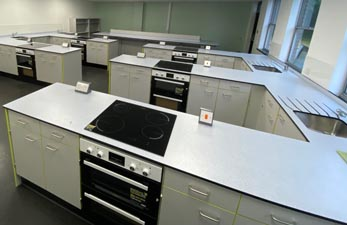 School Refubishment - Food Technology Classroom Design for Dawn House School