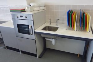 Special Educational Needs Furniture - Food Technology Adjustable Height Sink and Mid Height Oven