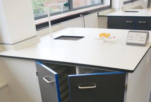 School Science Lab Design - Service Pod with Contrast Door Edging