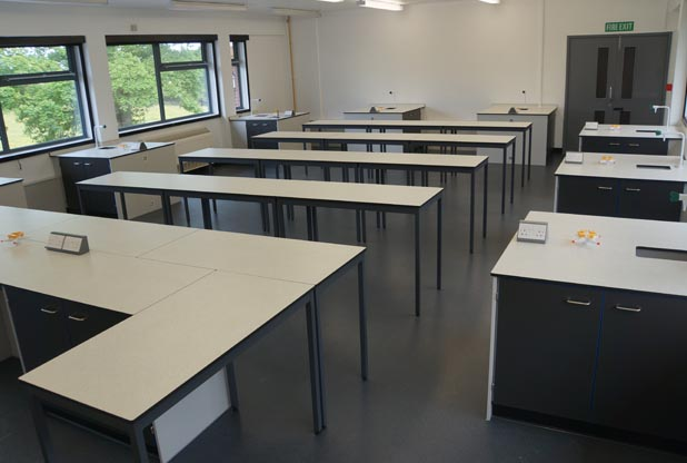 School Science Lab Furniture - Beverley Grammar School
