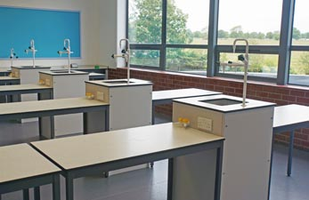 School Science Lab Furniture Installation for Beverley Grammar School