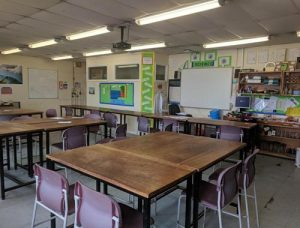 Leasowes School before science laboratory refurbishment