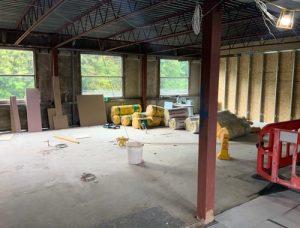 Leasowes School work in progress - science lab refurbishment