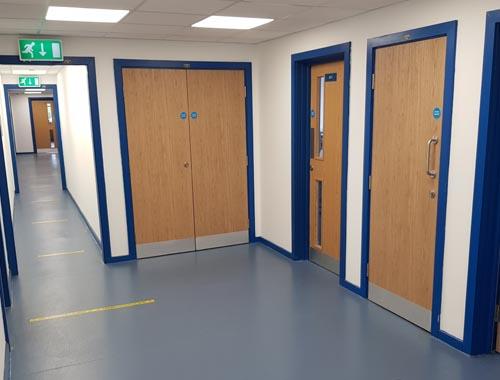 New circulation space in Leasowes School science block