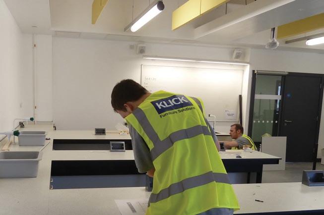 Laboratory refurbishment by Klick Technology