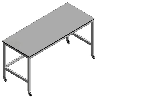 Mobile lab tables by Klick Laboratories