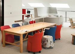Break out space design for laboratory offices