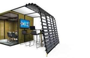 Meeting pod design for laboratory open plan office