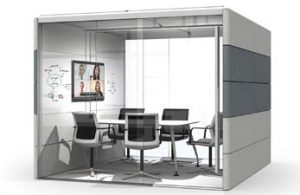 Meeting pod for laboratory breakout spaces