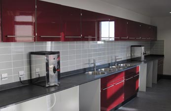 Staff canteen area - laboratory construction