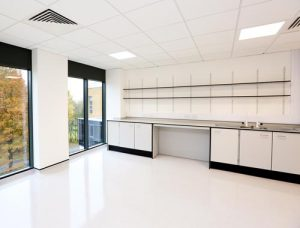 Klick laboratory furniture manufacturers UK - perimeter benching