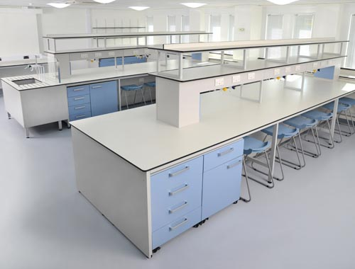 Lab furniture design for University of Kent