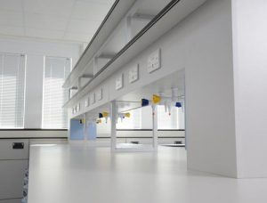 Laboratory furniture design - reagent shelving