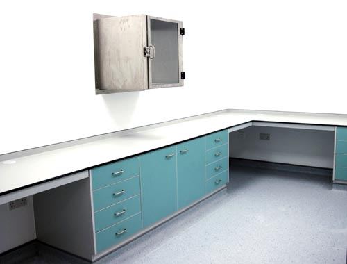 Laboratory furniture fitted for Hologic, Manchester