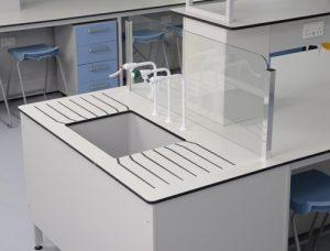 Specialist Laboratory Design - Trespa worktop & glass splashback