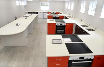 Food Technology Room Design - St Georges School, Ascot