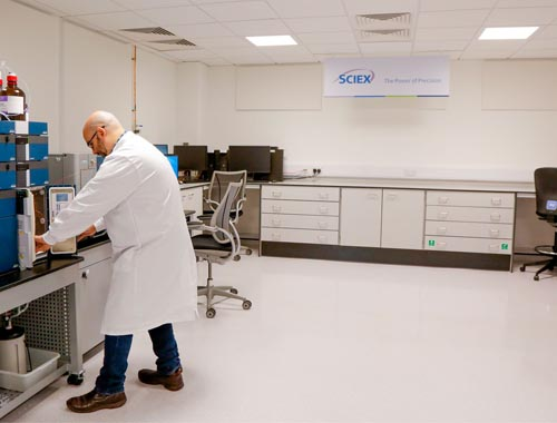 Lab Furniture for Sciex - Klick Laboratories