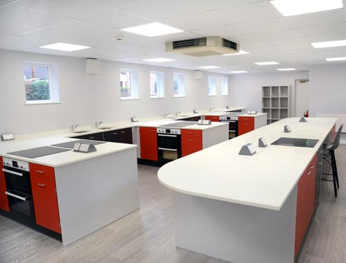 Food Technology Room Design - St Georges School Ascot